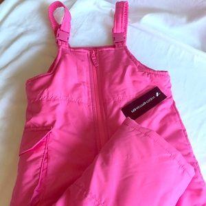 Girls pink snow pants size 5/6